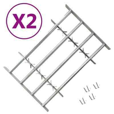 vidaXL 2x Rejas de Seguridad de Ventana Ajustables 1000-1500 mm Casa Rejilla