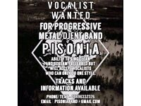 Vocalist wanted for progressive Metal/Djent Band.