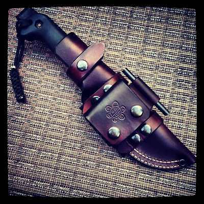 Premium Custom Made Leather Sheath For ESEE 5 Or Becker BK 2 for sale  Shipping to Canada