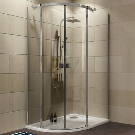 B+Q/Cooke & Lewis Shower Enclosure with tray and waste BNIB RH Offset 1200x900 - less than 1/2 price