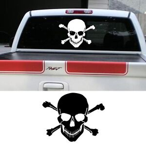 Skull-Sticker-Pickup-Truck-Skull-Graphic-Skull-decal