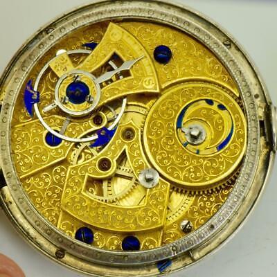 Unique qing dynastie bovet chinois duplex argent & Émail poche montre c1840