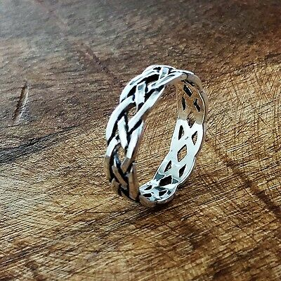 NEW! 925 Sterling Silver Celtic Knot Eternity Ring Sizes -