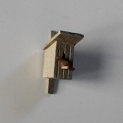 Krippenzubehör Nistkasten mit Vogel Minigarten Modellbau Puppenstube