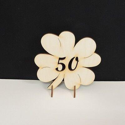 Geschenk, Goldenen Hochzeit Jahrestag, 50 Holz Glücksklee 11cm Aufsteller Deko