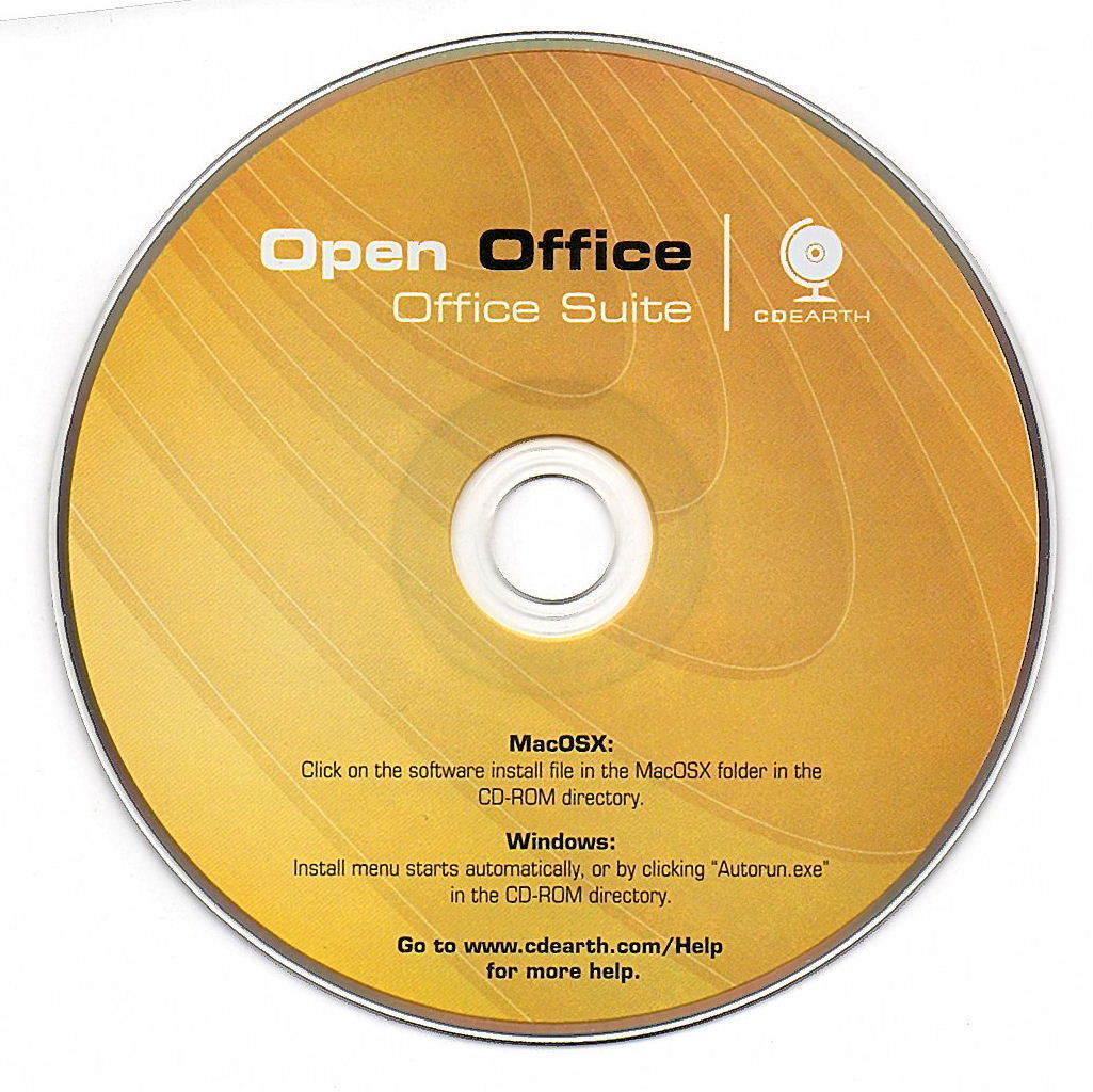 OPEN OFFICE SUITE SOFTWARE CD.