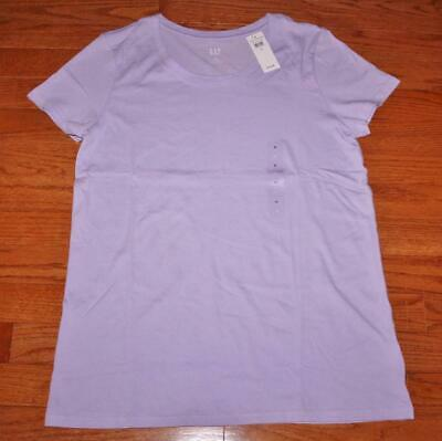 NWT Womens GAP Short Sleeve Crewneck T-Shirt FAVORITE Tee Purple FREE SHIP *T3
