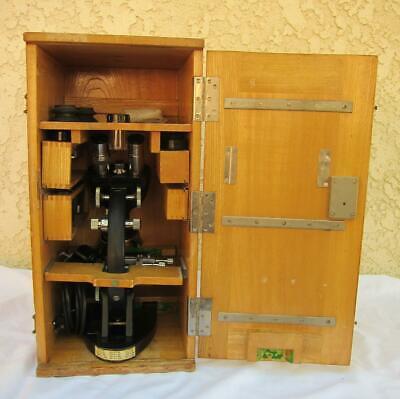 Vintage Opplem New York Byd Yashima Binocular Microscope W Case Extras