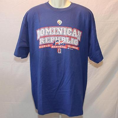 New Majestic World Baseball Classic 2009 Dominican Republic DR XL Shirt image