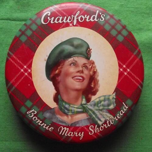 c1950 Edinburgh Crawford Shortbread Bonnie Mary Tartan Tartanware Tin