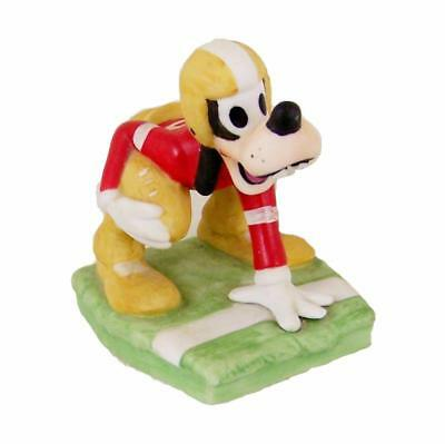 Vtg Disney Goofy Football Player Figurine Running Back UCGC Ceramic Figure WDP