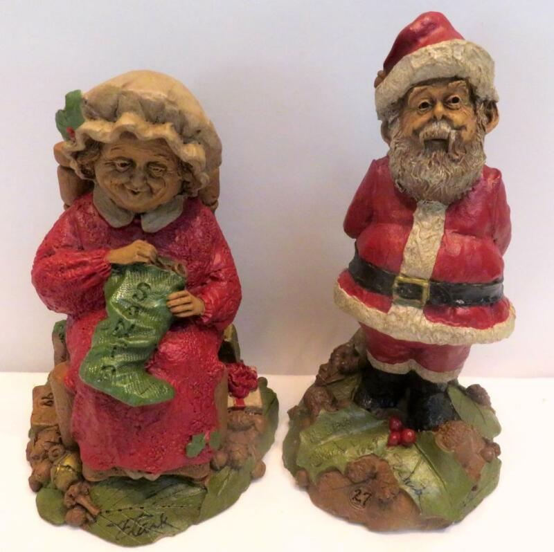 Vintage Tom Clark 1986 Mr Claus, 1987 Mrs Claus Figurines Signed Dated Numbered
