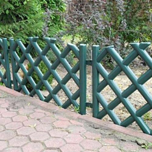 garden fence - Garden Plastic Fence Lawn Palisade Boarder Patio Fence Edge Fencing BJPO Green
