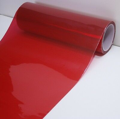(Gloss Red Headlight Taillight Overlay Fog Light PVC Tint 72