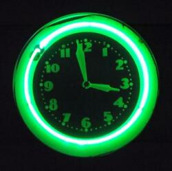 RARE ANTIQUE VINTAGE DECO GLO DIAL TYPE GREEN NEON CLOCK by MODERN TIME CO. NY