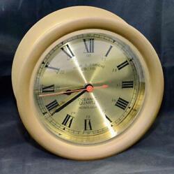 Mark & Stephens Oceanic Quartz Honolulu Maritime Nautical Brass Wall Clock