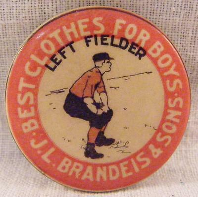 Vintage Sports Pinback J.J. Brandeis & Sons Left Fielder Best Clothes For (Best Sports For Boys)