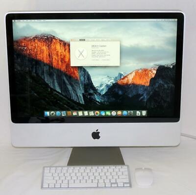 """Apple iMac 24"""", Early 2009, C2D @ 2.66 GHz, 4GB RAM, 640GB HDD, OSX 10.11.6"""
