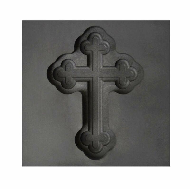 Large Botonee Cross 3D Graphite Ingot Mold Silver Gold Copper Tin Metal Casting