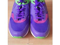 Nike Air Max 1 Purple / Mean Green / Rave Pink Shoes (UK Size 7)