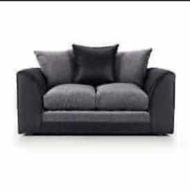 BRAND New Sofa in Black, Grey and Cream Jumbo Cord