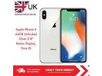 Apple iPhone X 64gb Silver Excellent Condition