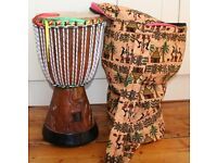 African Djembe drum with case
