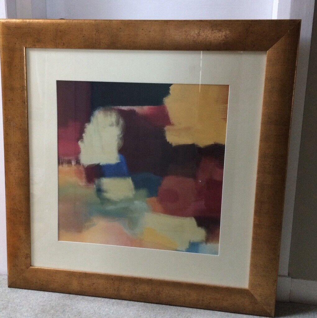 Large framed print