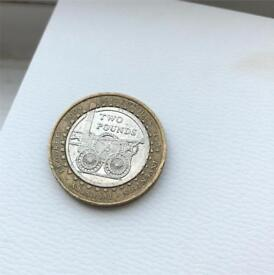 Invention industry progress £2 rare coin