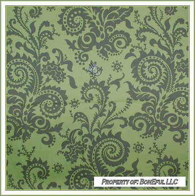BonEful Fabric Cotton DECOR Amy Butler Green Nigella Flower Lg Pillow RARE (Green Toile Quilted Pillow)