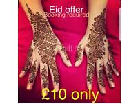 £10 Eid Offer & £20 off on bridal: Henna Artist on your Budgets