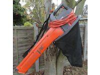 Flymo electric garden leaf blower / vac
