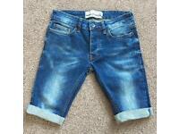 Topman Spray On Skinny Denim Shorts