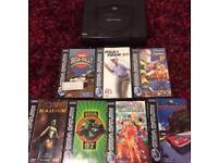 Sega Saturn with Games