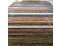 John Lewis multistripe Rug 300x200cm hand loomed 100% wool.