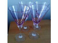 4 lovely Next wine / Cocktail Glasses