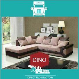 👦New 2 Seater £229 3 Dino £249 3+2 £399 Corner Sofa £399-Brand Faux Leather & Jumbo Cord𢏕R7