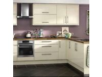 Slab Cream Gloss Kitchen £895 includes appliances