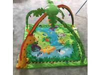 Fisher-Price Baby Rainforest Melodies and Lights Deluxe Gym playmat