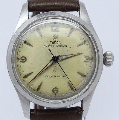 VINTAGE Tudor Oyster London ref.4463 Mens Steel Manual Watch c.59 Original Cond