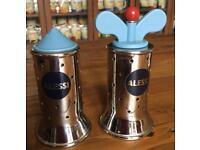 Alessi Salt & Pepper Set Grinder Michael Graves Peugeot Mill
