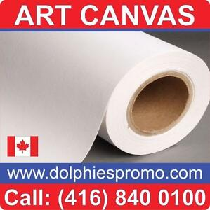 Blank Roll of Fine Quality Matte Art Canvas Artist ARTISTIC Supply for Inkjet Canvas Prints Printing