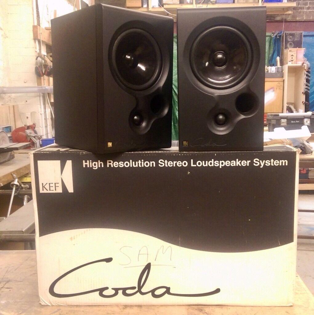 Kef Coda 8 Bookshelf Speakers Boxed