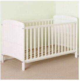 John Lewis Tara Cotbed, White (Includes Mattress / fitted sheets)