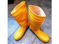 Yellow Wellington Boots - 45 (11) - Steel toe-caps, Safety, Wellies, Men's, New