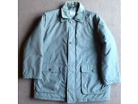 MEN'S 'ALDON' PADDED 3/4 COAT WITH ZIP FRONT AND QUILTED LINING SIZE XL - NEVER WORN