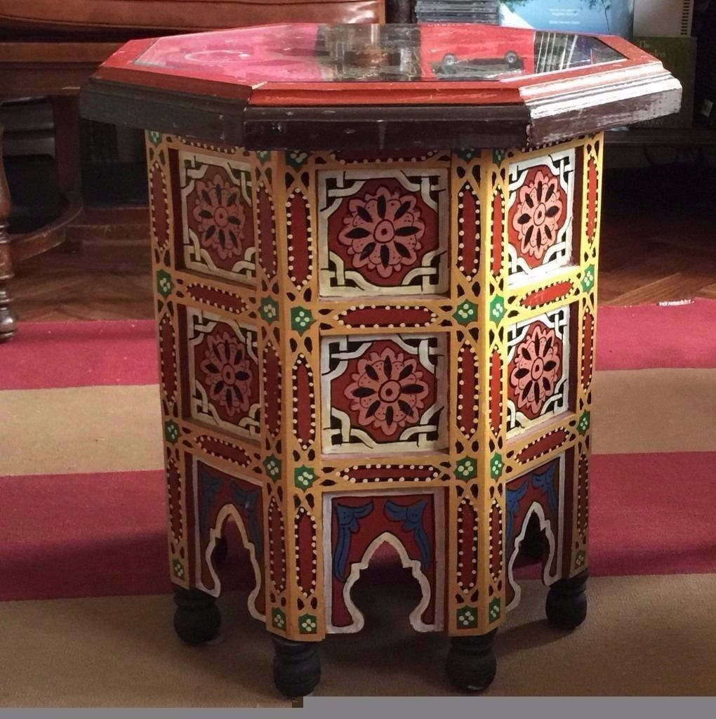 Exceptional Iu0027m Going To Regret Selling This BEAUTIFUL Hand Painted Moroccan Side Table  With Glass