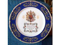 Aynsley English fine bone china Prince Charles and camilla wedding commemorative plate