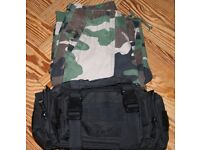 Kids Combat Trousers (waist 26 inches) and free combat bag