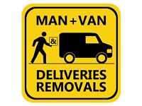 friendly reliable man & van / handyman LWB transit deliveries removals pick-ups recycling dump runs
